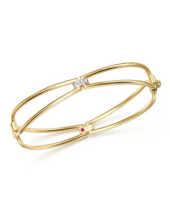 Roberto Coin - 18K Yellow Gold Classic Parisienne Diamond Bangle - 100% Exclusive