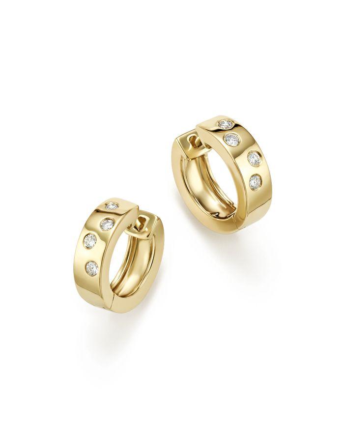 Bloomingdale's Diamond Huggie Hoop Earrings In 14K Yellow Gold, 0.20 ct. t.w.- 100% Exclusive   | Bloomingdale's