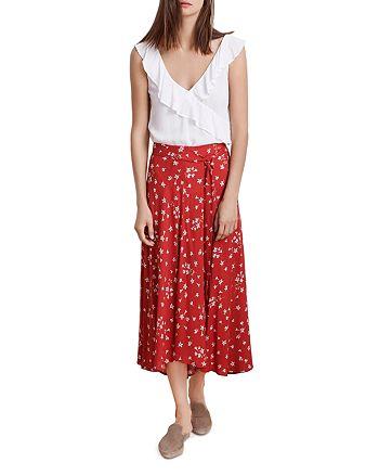 d87654cc53b343 Velvet by Graham & Spencer Swan Floral Print Midi Skirt | Bloomingdale's