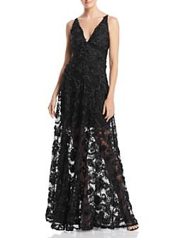 Avery G - Floral Appliqué Gown - 100% Exclusive