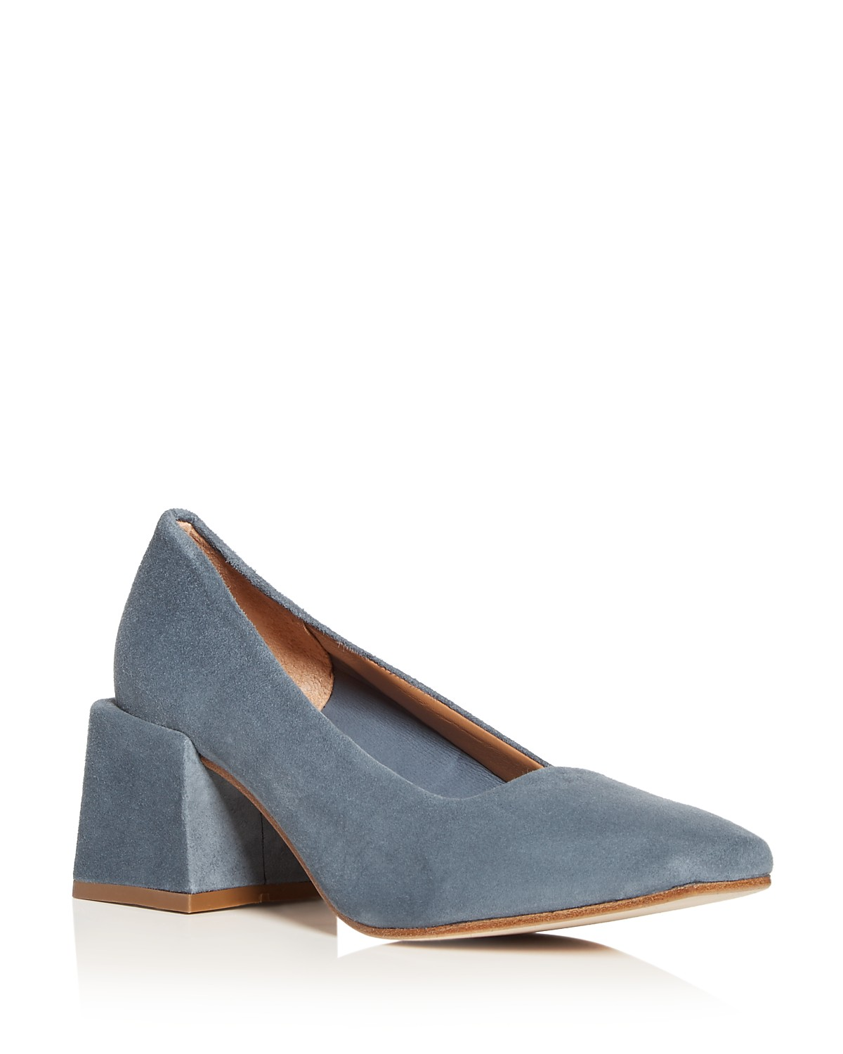 LOQ Women's Villa Suede Block Heel Pumps