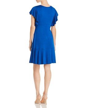 Robert Michaels - Flutter-Sleeve Dress - 100% Exclusive
