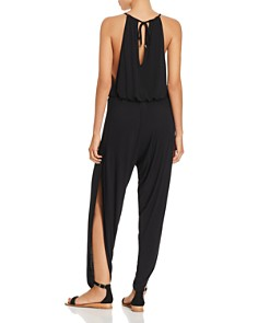 Laundry by Shelli Segal - Draped Jumpsuit Swim Cover-Up
