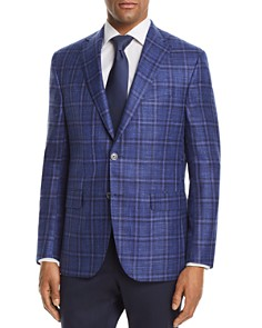Jack Victor - Plaid with Windowpane Regular Fit Sport Coat