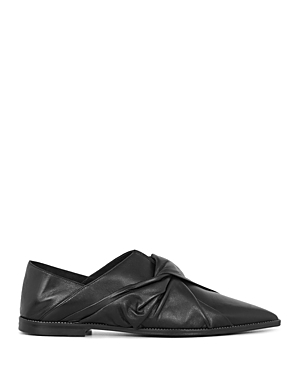 Allsaints Women's Alia Leather Knotted Leather Flats