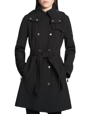 DOUBLE-BREASTED SNAP FRONT TRENCH COAT