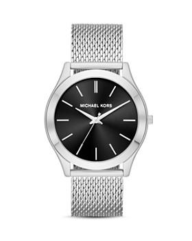 Michael Kors - Silver-Tone Slim Runway Watch, 44mm x 49mm
