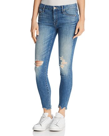 MOTHER - The Looker Ankle Chew Distressed Skinny Jeans in Mums The Word