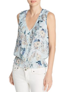 BELTAINE PRINTED RUFFLE TOP - 100% EXCLUSIVE