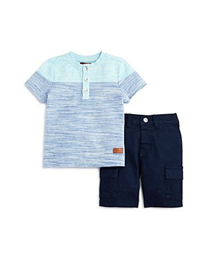 7 For All Mankind Boys Henley Tee  Twill Shorts Set  Little Kid
