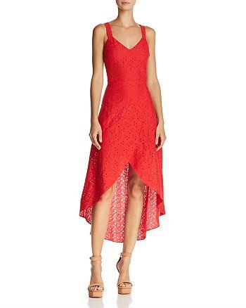 JOA - Cutout High/Low Lace Dress