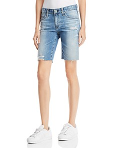 AG - Nikki Denim Shorts in 16 Years Indigo Deluge Destructed