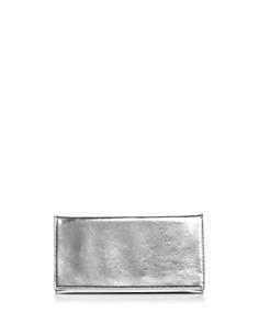 AQUA Metallic Foldover Clutch - 100% Exclusive - Bloomingdale's_0