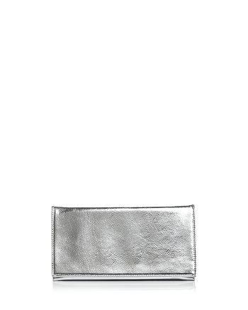 AQUA - Metallic Foldover Clutch - 100% Exclusive
