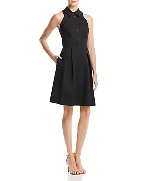 Adrianna Papell Cutout-Back Fit-and-Flare Dress