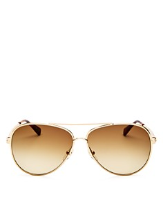Longchamp - Women's Roseau Family Brow Bar Aviator Sunglasses, 55mm