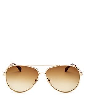 2cc7bedad7 Longchamp - Women s Roseau Family Brow Bar Aviator Sunglasses