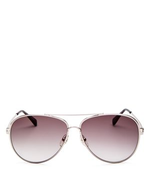 61MM GRADIENT LENS AVIATOR SUNGLASSES - GUNMETAL