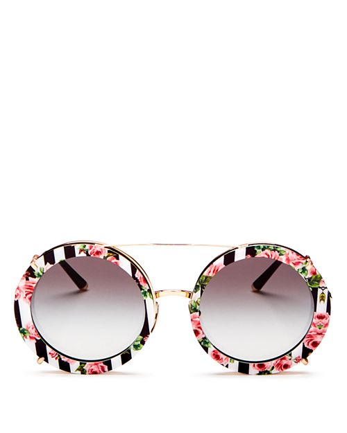 Dolce&Gabbana - Women's Oversized Round Sunglasses, 63mm
