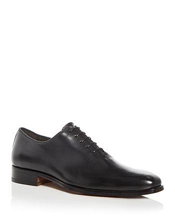 A.Testoni - Men's Leather Plain Toe Oxfords