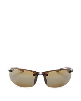 Maui Jim - Men's Banyans Polarized Rimless Wraparound Sunglasses, 73mm