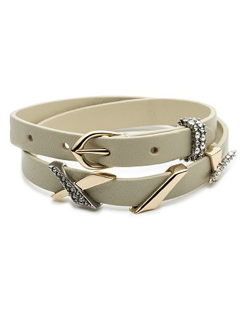 Alexis Bittar - Crystal Embellished Leather Wrap Bracelet