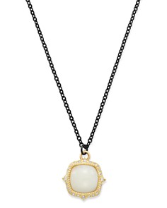 """Armenta - 18K Yellow Gold & Blackened Sterling Silver Old World Potch Opal Pendant Necklace, 16"""""""