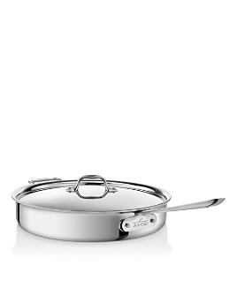 All-Clad - Stainless Steel 6-Quart Sauté Pan
