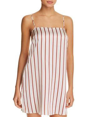 GINIA STRIPED SILK CHEMISE