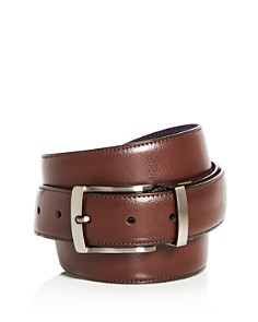 The Men's Store at Bloomingdale's - Reversible Burnished Edge Buckle Leather Belt - 100% Exclusive