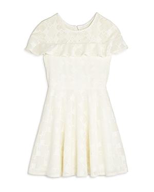 Pippa  Julie Girls Ruffled Geometric Lace Dress  Big Kid