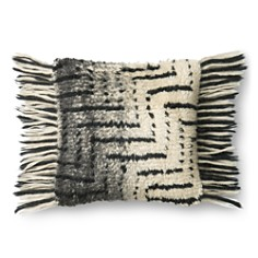 "Loloi - Black Ivory Decorative Pillow, 18"" x 18"""
