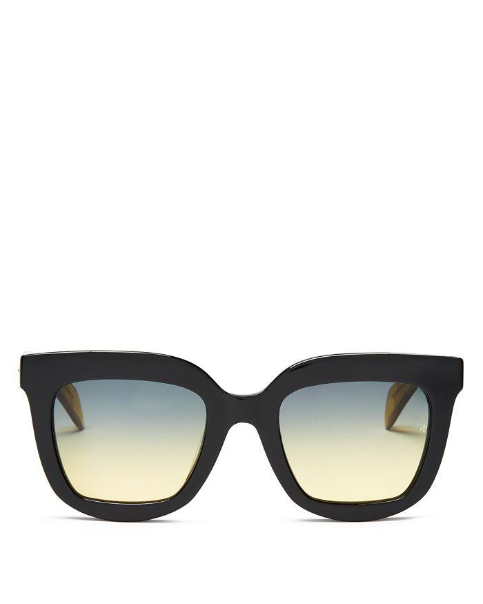 rag & bone - Women's 1002 Oversized Square Sunglasses, 52mm