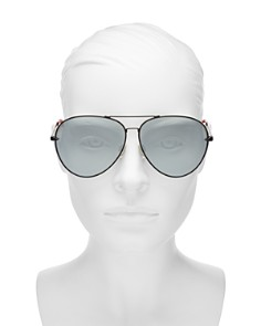 rag & bone - Women's 1006 Mirrored Aviator Sunglasses, 63mm