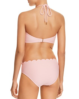 kate spade new york - Marina Piccola Textured Scallop High Neck Bikini Top & Marina Piccola Textured Scallop Hipster Bikini Bottom