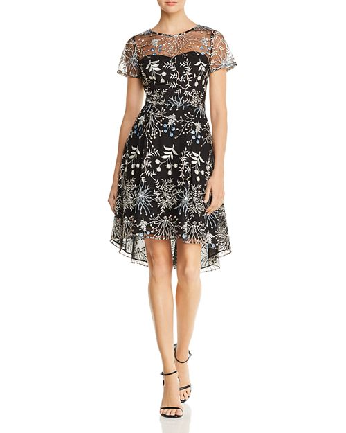 Adrianna Papell - Embroidered Tulle Dress