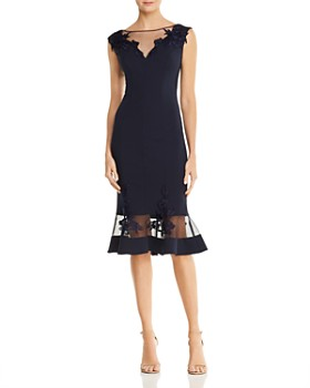 b0d92da90d93 Aidan Mattox - Scuba-Crepe Illusion Dress ...