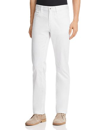 Emporio Armani - Straight Fit Five-Pocket Jeans in White
