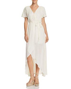 SADIE & SAGE EYELET-LACE FAUX-WRAP MAXI DRESS - 100% EXCLUSIVE