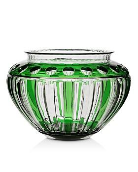 William Yeoward Crystal - Emerald Centerpiece Bowl