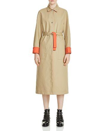 Maje - Gemma Contrast-Trim Trench Coat