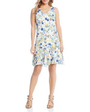 Karen Kane Floral Ruffle-Hem Dress - 100% Exclusive 2887431