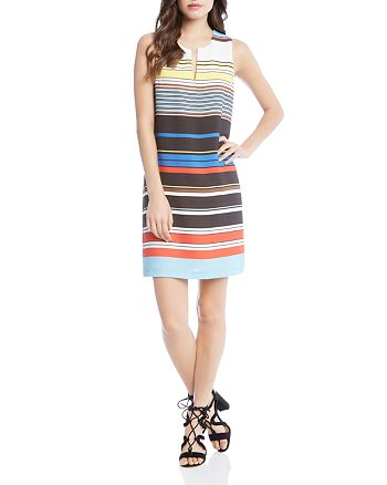 Karen Kane - Art Stripe Shift Dress