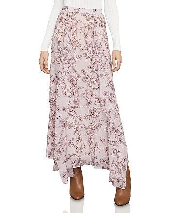 BCBGMAXAZRIA - Amali Vine Print Ruffled Maxi Skirt