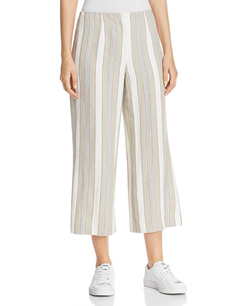 Lafayette 148 New York - Charlton Linen Wide-Leg Cropped Pants