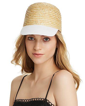 AQUA - Cotton Brim Straw Cap - 100% Exclusive