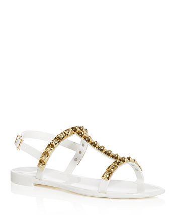 aa143531e4ab Stuart Weitzman Women s Jelrose Studded T-Strap Jelly Sandals ...