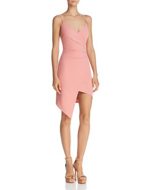 SUNSET & SPRING Sunset + Spring Ruched Faux-Wrap Dress - 100% Exclusive in Blush