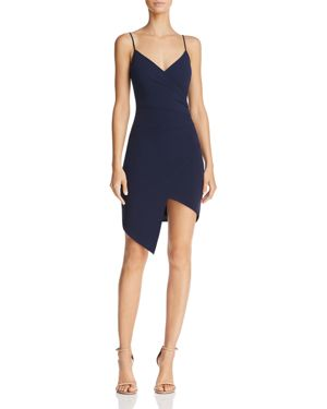 SUNSET & SPRING Sunset + Spring Ruched Faux-Wrap Dress - 100% Exclusive in Navy