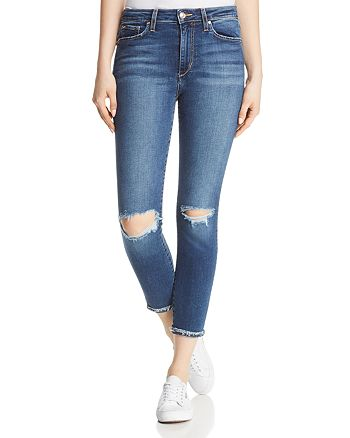 Joe's Jeans - The Charlie Crop Cuffed Skinny Jeans in Mandala